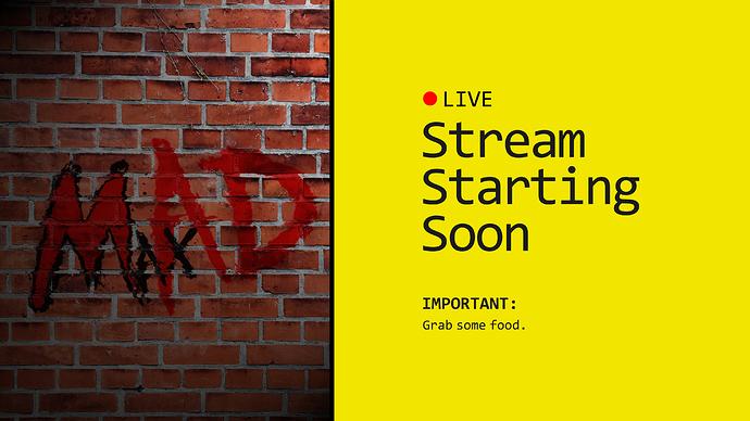 stream starting soon