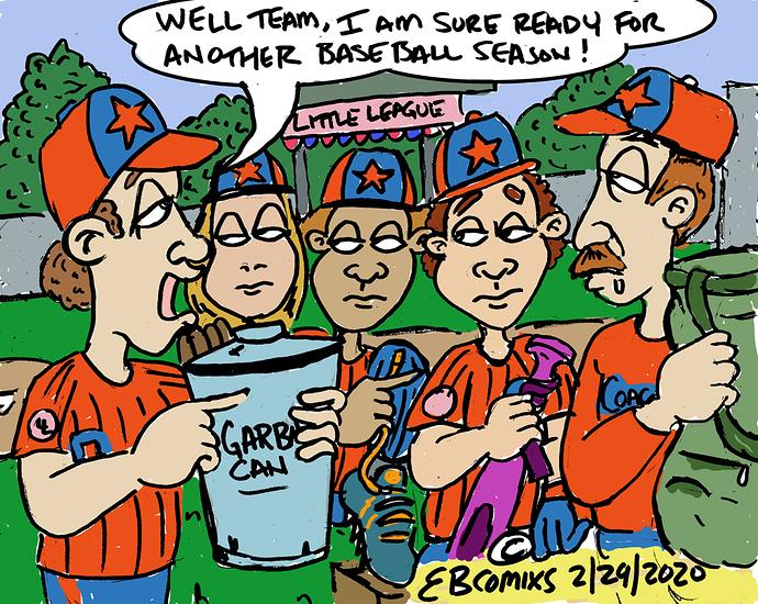 baseball trash
