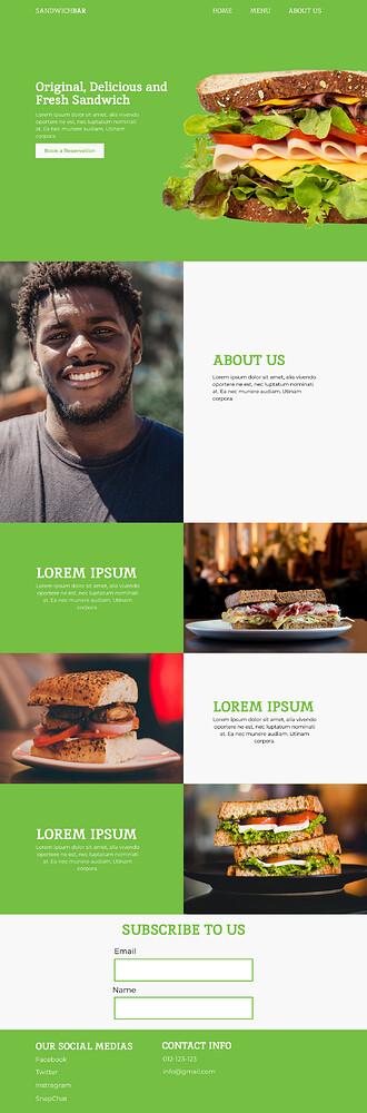 Sandwich Bar Website