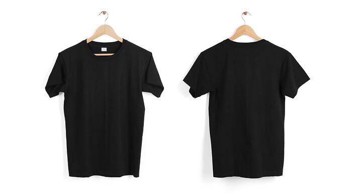 blank-black-t-shirt-hanger-isolated-white-space
