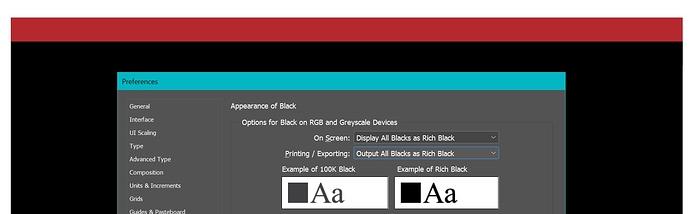 Display as Rich Black