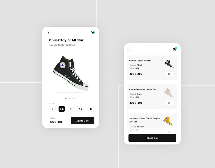 Converse buy page Redesign 1