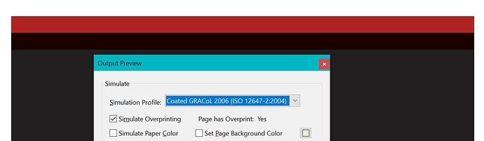 PDF with Overprint Preview