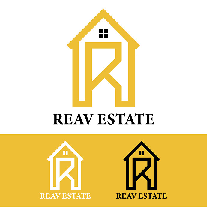 REAV ESTATE LOGO DESIGN_FINAL COLOUR VARIATION