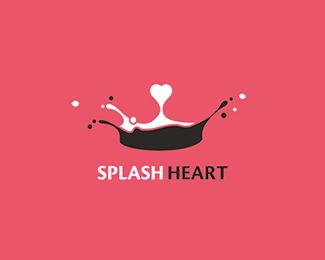 Splash-Heart-Logo-Design