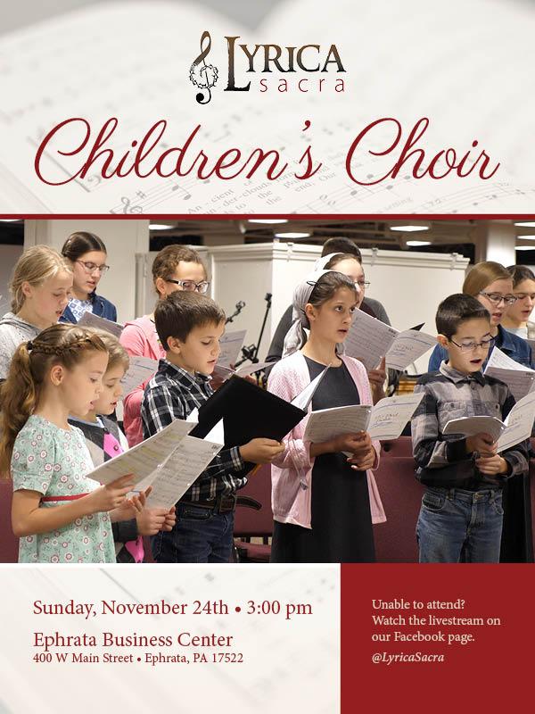 Children's Choir promo poster