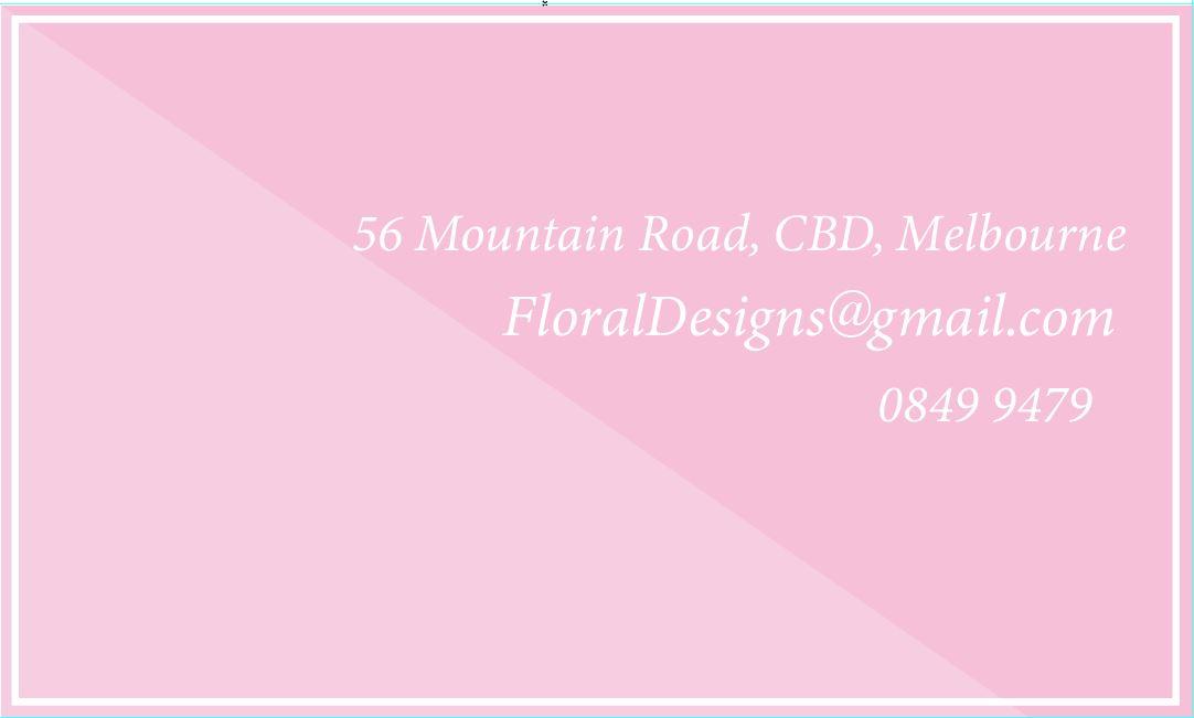 Digital Design1~Backside. CBD Florist~Flora. OP Assignment